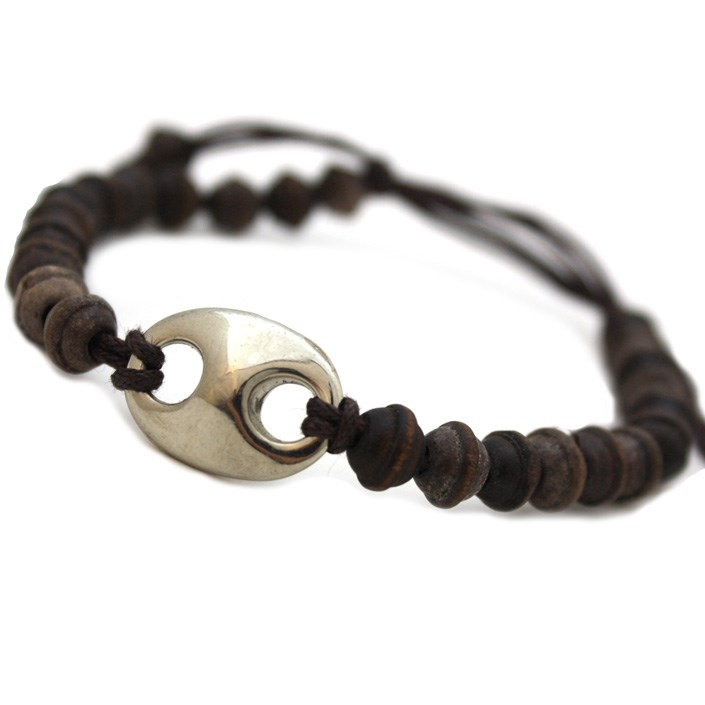Ethnic Natural Wooden Beaded Bracelet - Unisex